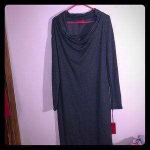 Jennifer Lopez Long Sleeve Cowl Neck Dress Sz Lg